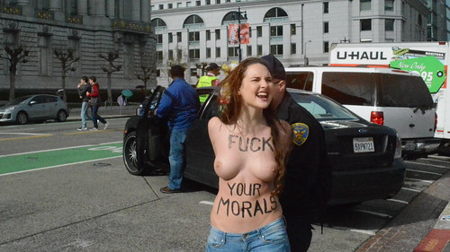 FEMEN SF at Walk for Life Jan. 23, 2016 in San Francisco | by eric.louie