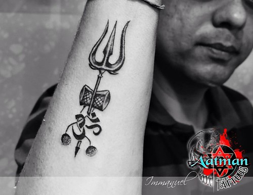 trishul custom tattoo by immanuel aatman tattoos bangalo flickr. Black Bedroom Furniture Sets. Home Design Ideas