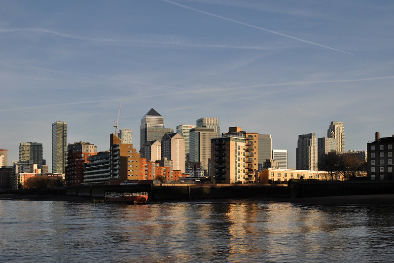 Canary Wharf skyline (wider)