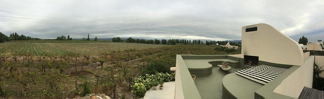 View from roof of our room at Cavas Wine Lodge, Lujan de Cuyo