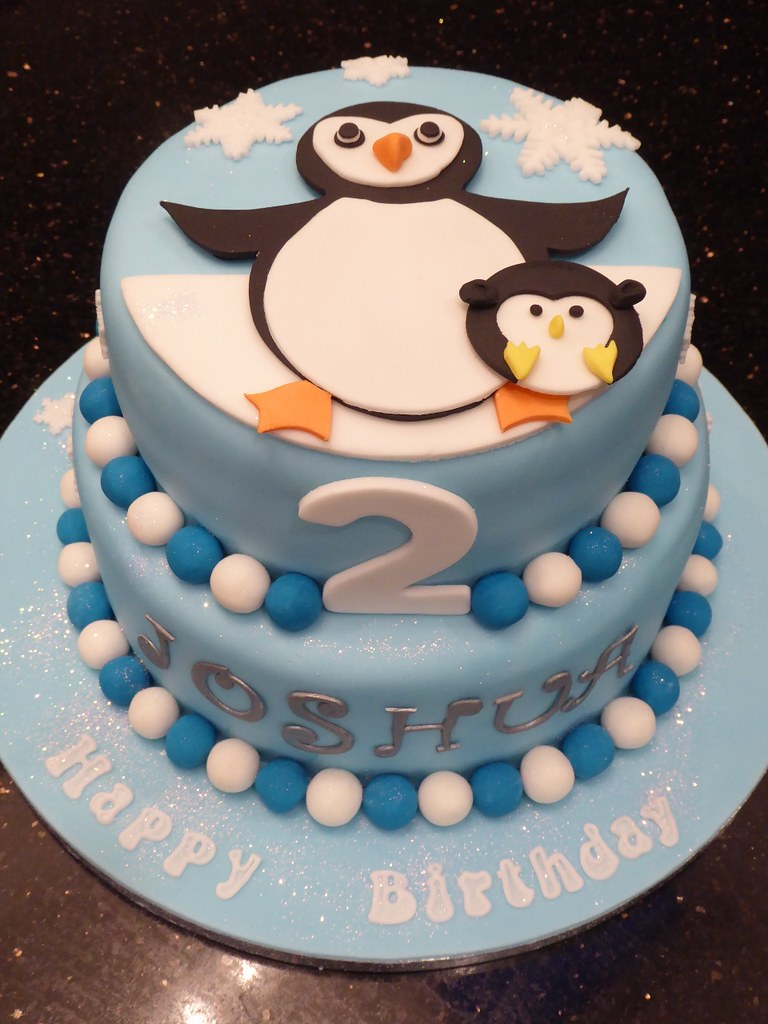 Penguin Birthday Cake Rachael Ince Flickr