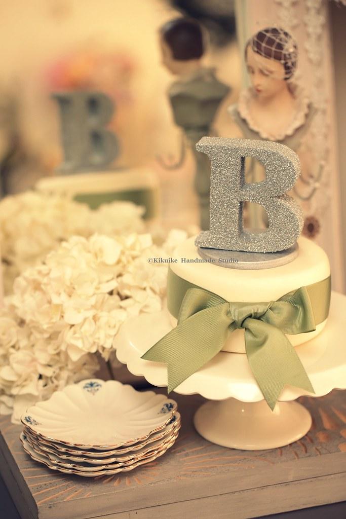 initials wedding cake topper | www.etsy.com/shop/kikuike?pag… | Flickr