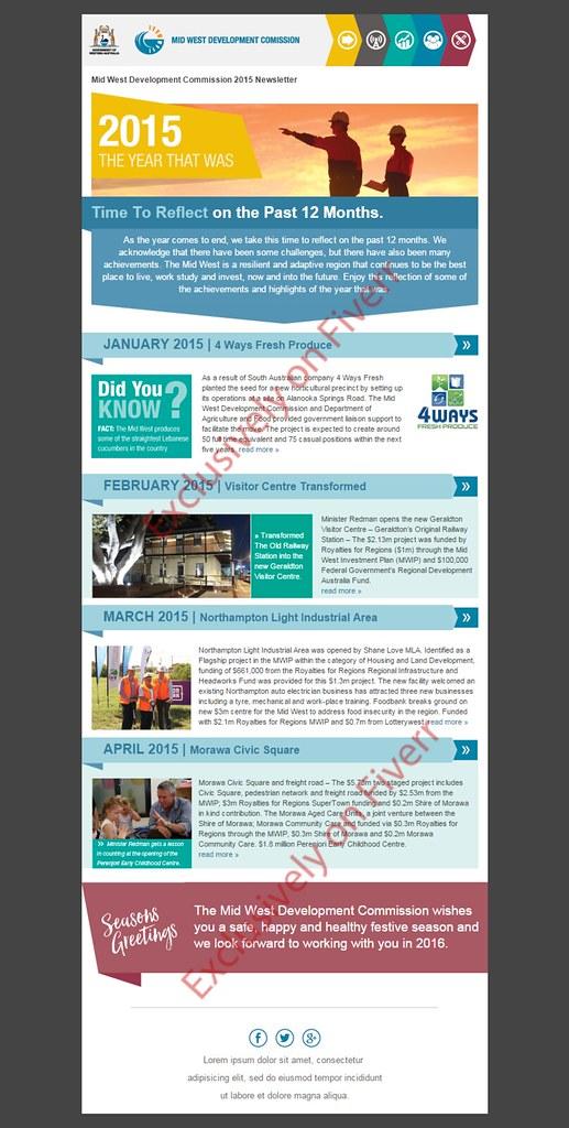 Responsive Html Email Template Newsletter 52 Custom Mobi Flickr