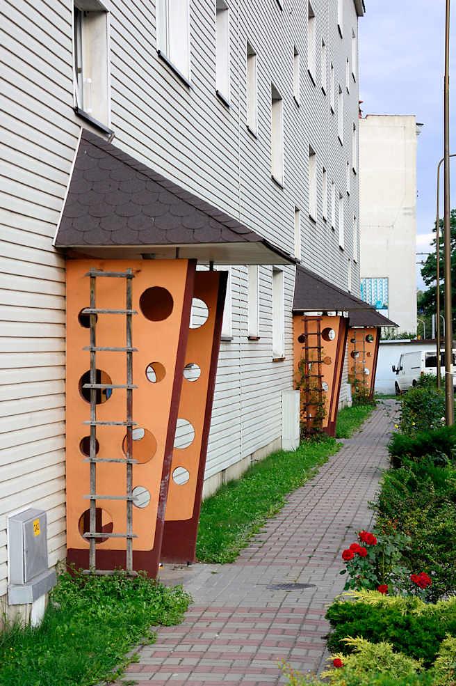 2796 Hauseingang Farblich Orange Abgesetzter Windfang Flickr