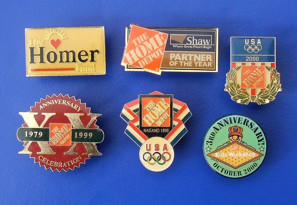 The Home Depot Inc Promotional Badges 1990s 2000s Flickr