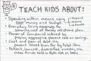 What I Want to Teach My Kids About Money on an Index Card | by FamZoo