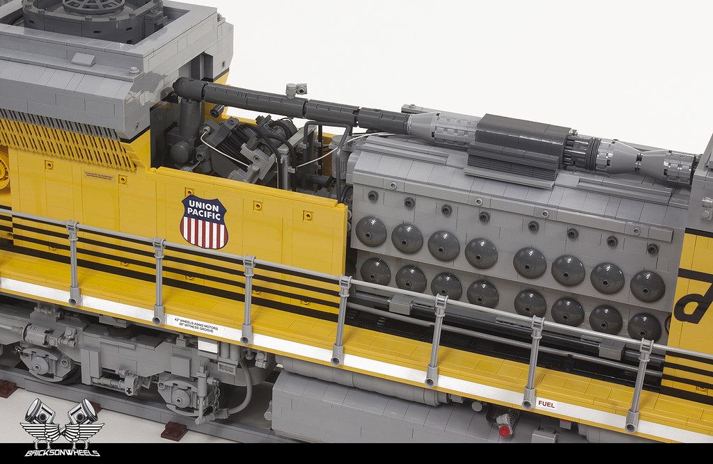 union pacific emd sd70 ace locomotive in lego scaled 1 16 flickr
