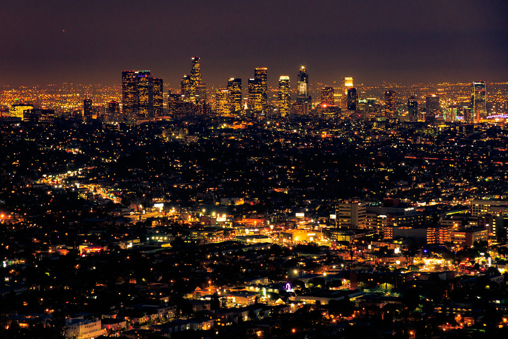 la night los angeles at night seen from the griffith obser flickr