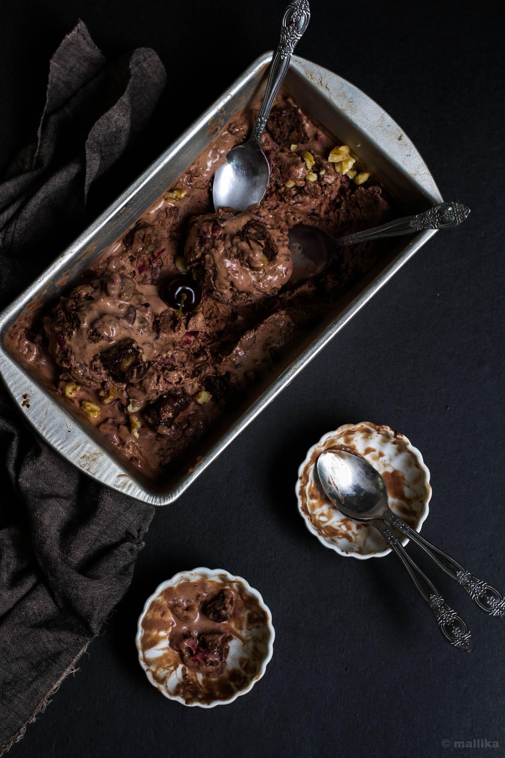 Chocolate Black Forest Ice Cream