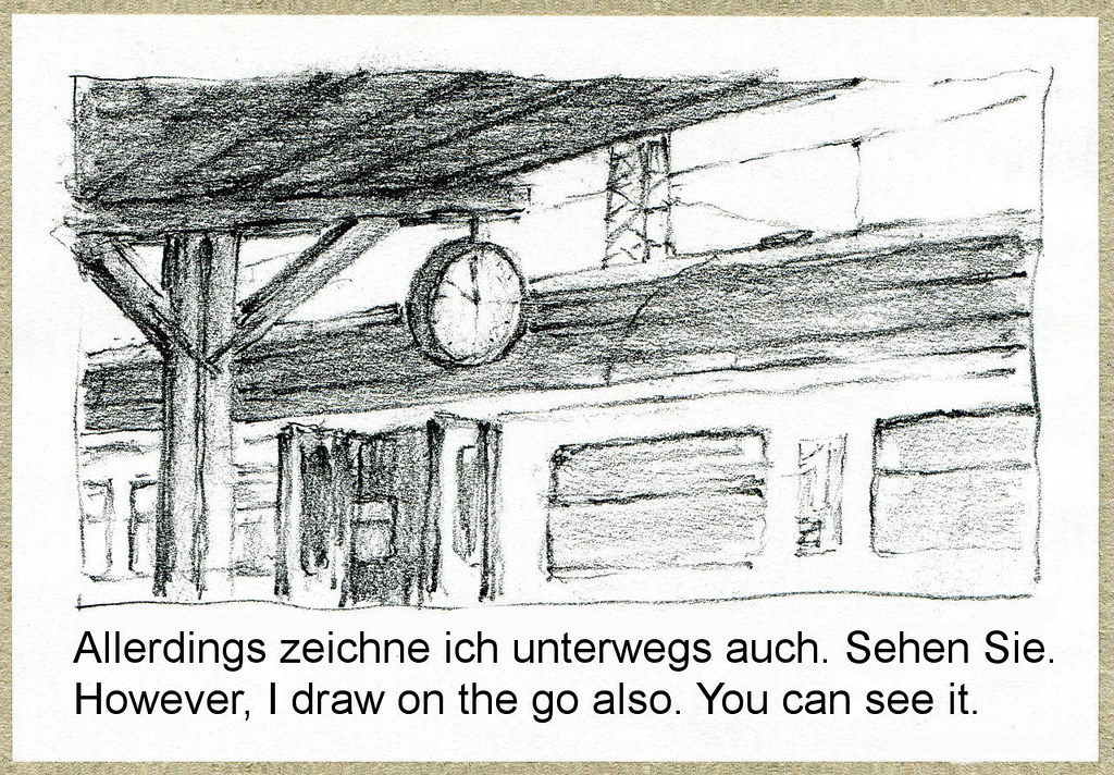 Wolfram Zimmer Drawing On The Train Zeichnen Im Zug Flickr