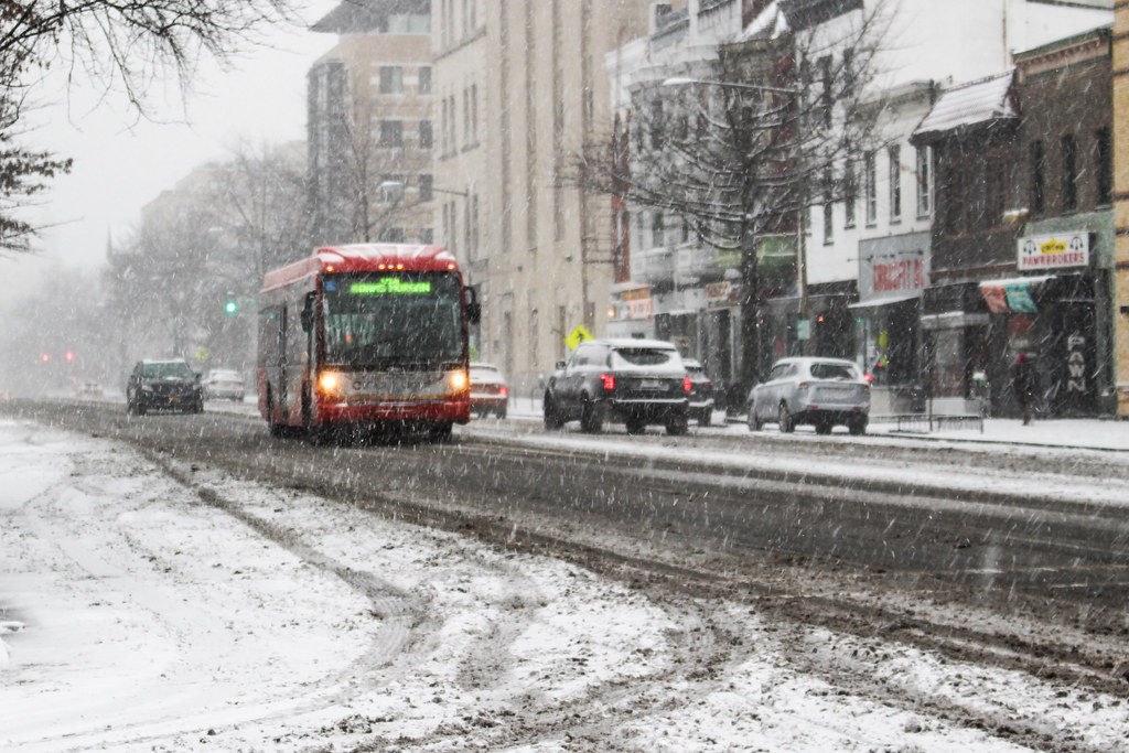 Circulator in the snow