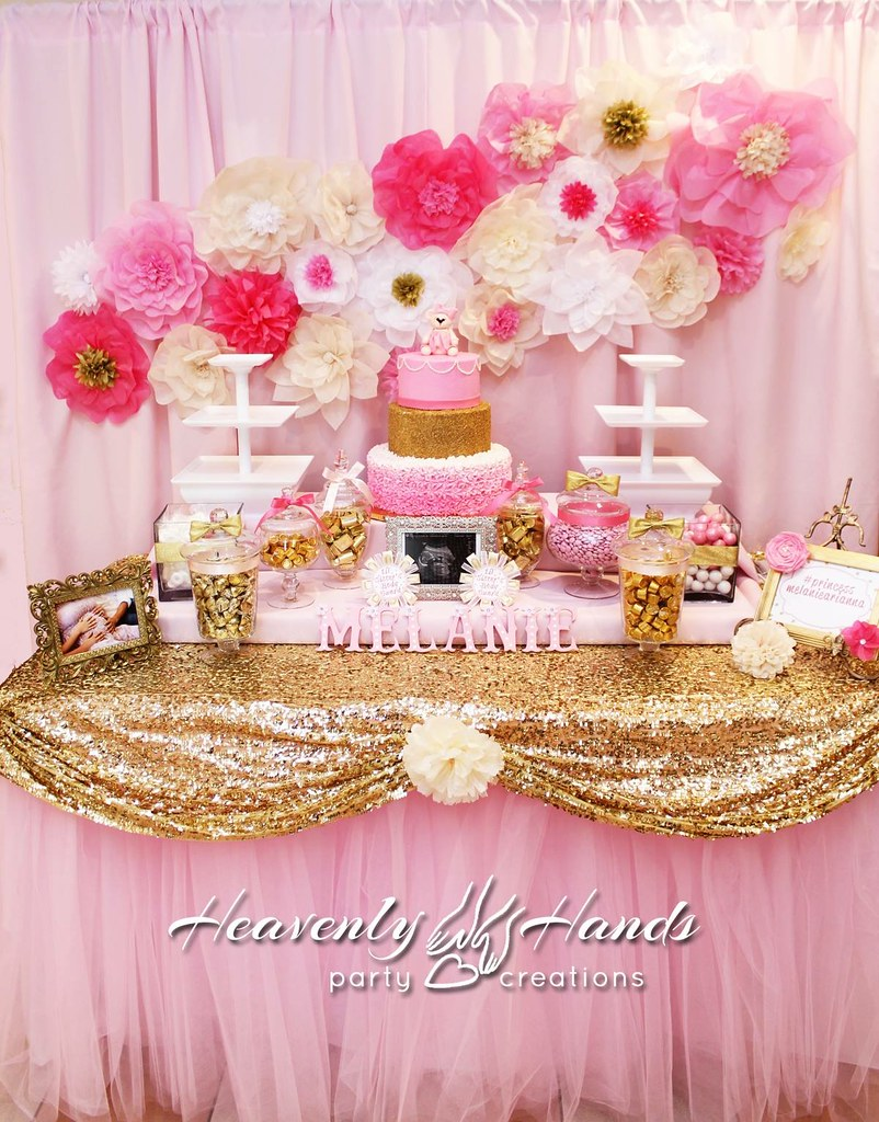for cute pink holidays buffet candybarpink the baby shower time announcement gold and cigars displays candy