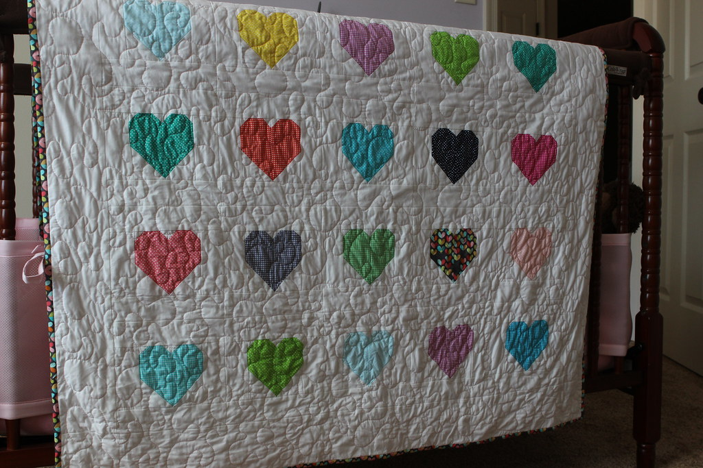 Valentine S Day Quilt 2016 Heart Pattern Is From Cluck Clu Flickr