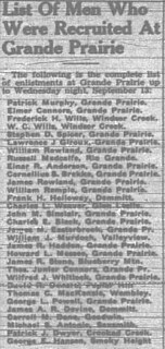 September 14, 1939 - List of Men Who were Recruited at Grande Prairie | by sprarchives