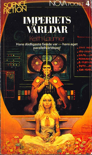 Keith Laumer, Imperiets världar [Worlds of the Imperium] (1983 - Laissez faire produktion AB, Nova Science Fiction Pocket [4]) cover by Don Maitz