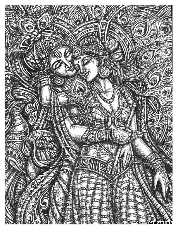 Lord Radha Krishna Drawings By Ani Artist Anikartick Vasu