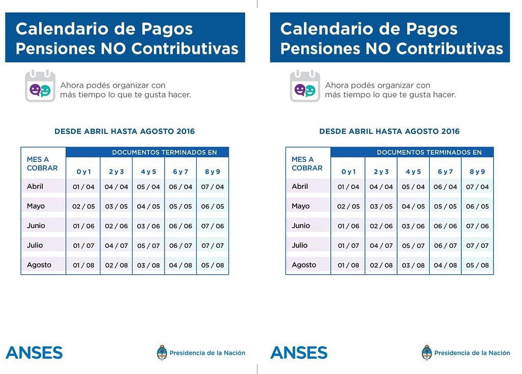 Calendario Social.Flyer Calendario Pensiones A5 Administracion Nacional De