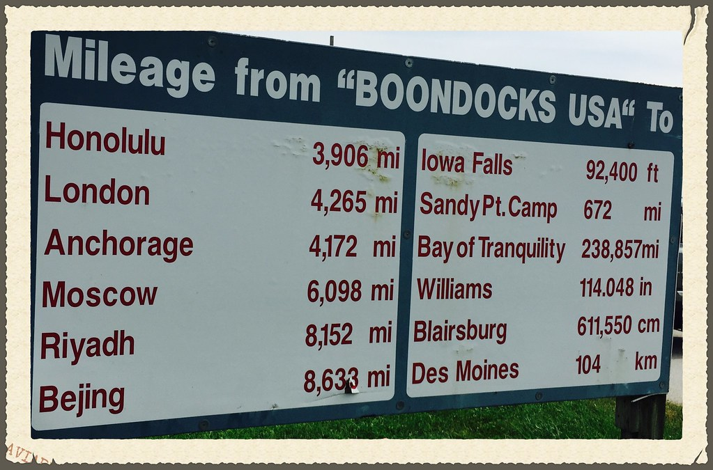 mileage sign from boondocks usa per the mileage sign abo flickr