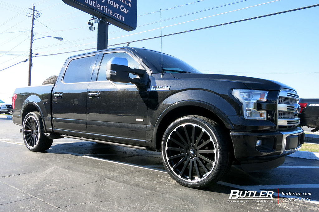 Ford F150 With 24in Black Rhino Spear Wheels View Addition Flickr