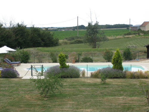 View across the pool from the gite | by Les Petites Cigognes