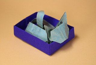 Cat in a Box by Anna Kastlunger | by origami_8