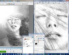 S A : Picasa 3 and GIMP : Woman 71 - Sun (WIP) | Screenshot