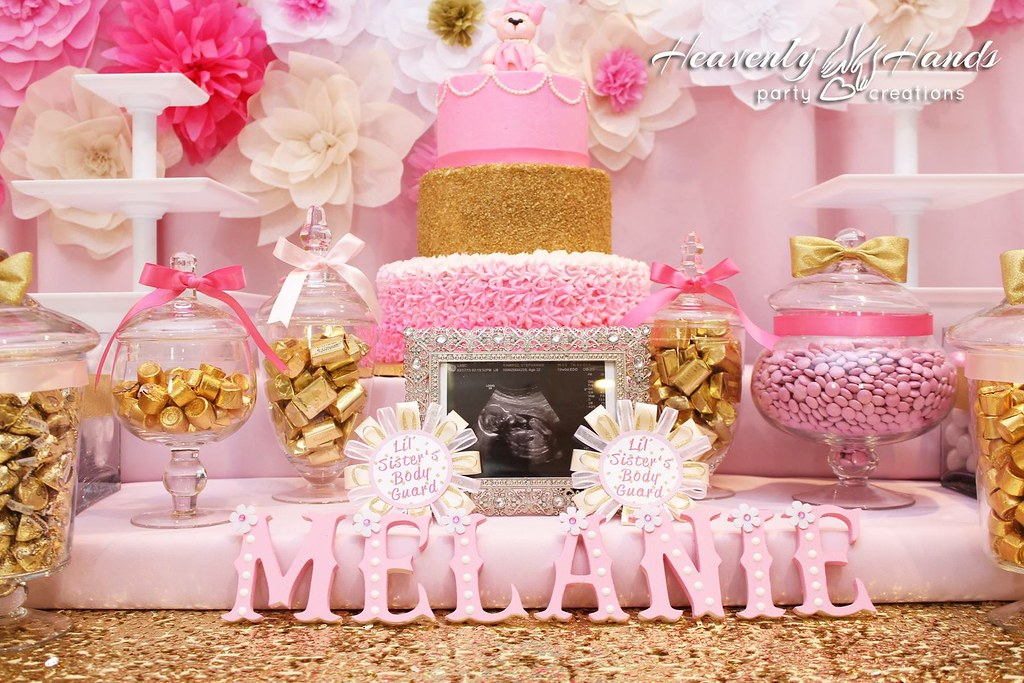... Pink And Gold Baby Shower Candy Table | By Heavenly Hands Occasions