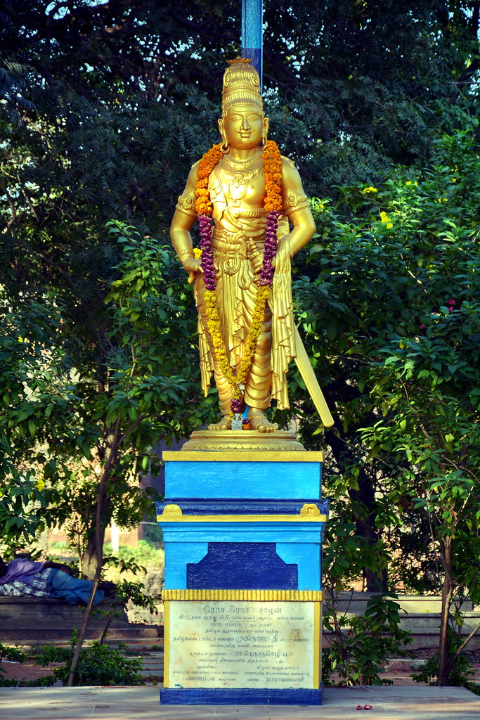 India Tamil Nadu Thanjavur Raja Raja Cholan Statue P Flickr
