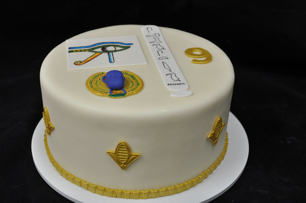 Egyptian Birthday Cake Eye Of Horus Scarab Beetle And Nam Flickr