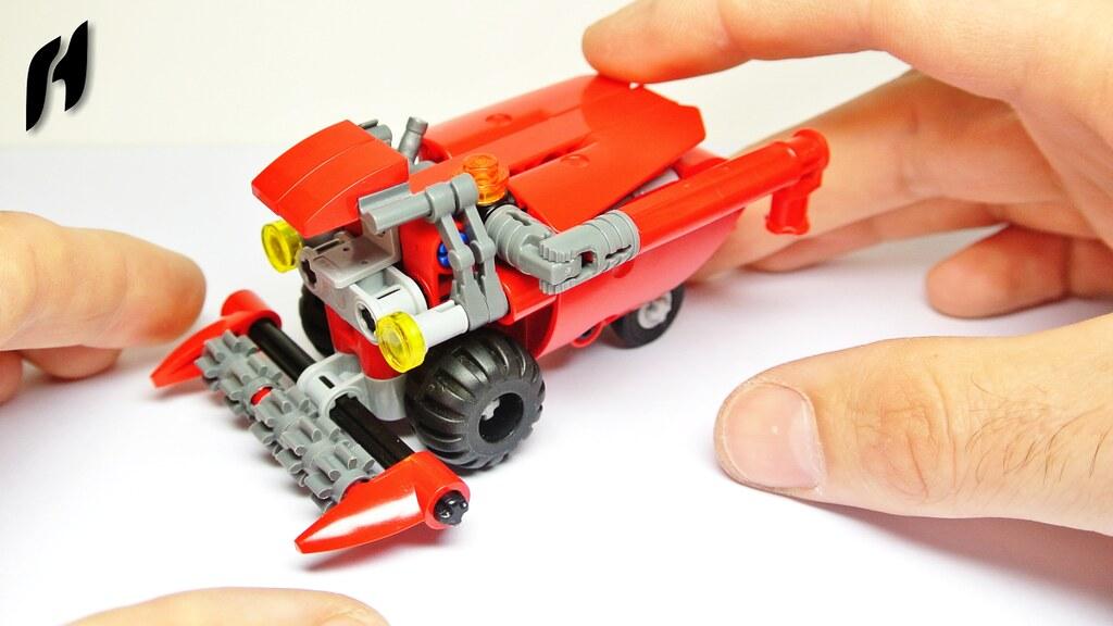 How To Build Lego Technic Combine Harvester Moc Youtu