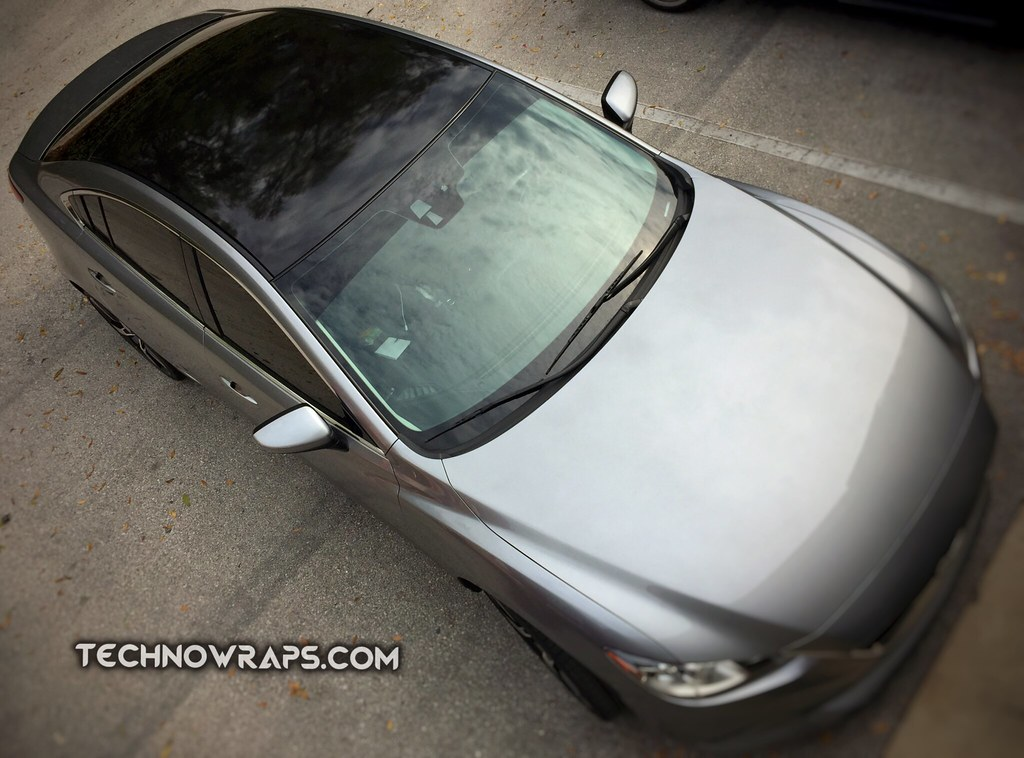 ... Gloss Black Car Roof Wrap In Orlando | By TechnoWraps