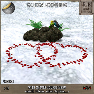 Thrift Shop EXCLUSIVE NEW RELEASE 50% OFF !!! *RnB* Garden Lovebirds -nature sounds menu- (copy) | by Bethesa