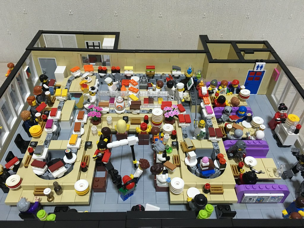 Lego sushi train | The interior. Check out my blog for more→… | Flickr