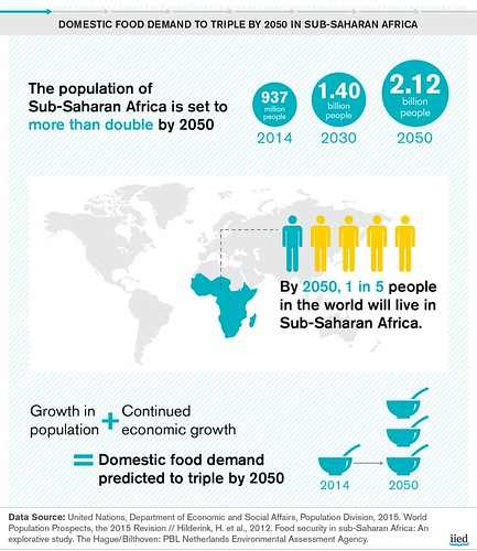 Food demand and forests in Sub-Saharan Africa: infographic series