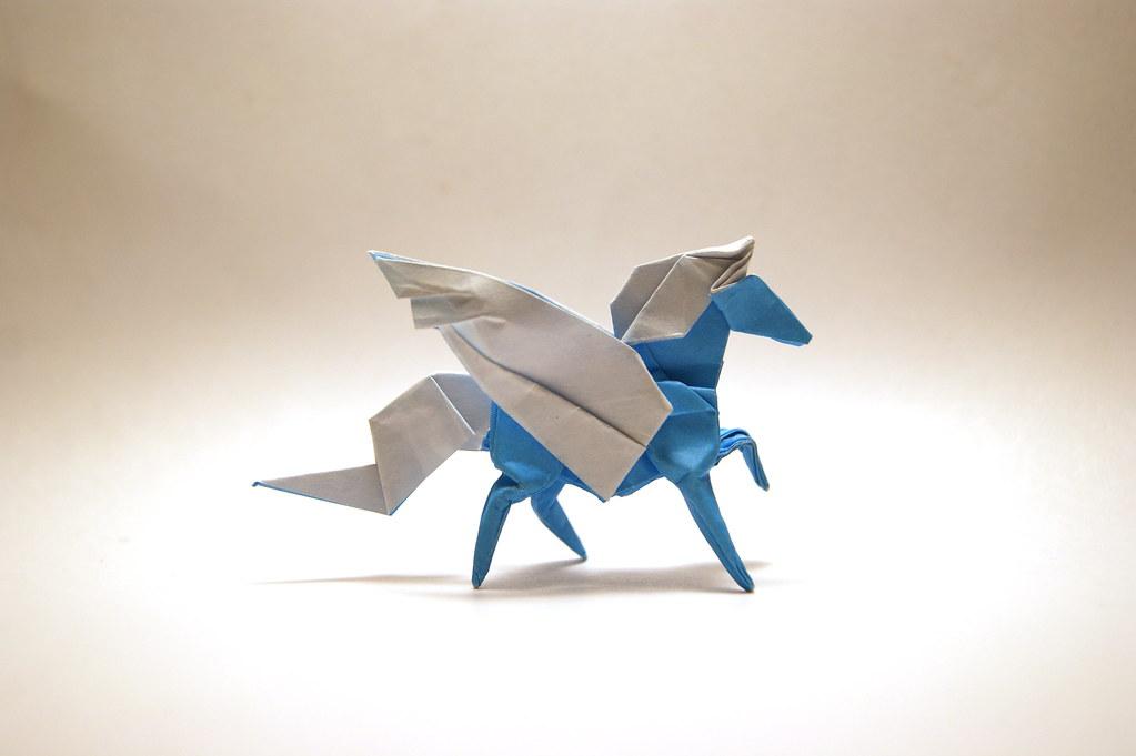 Origami Pegasus Designed And Folded By Mindaugas Cesnavici