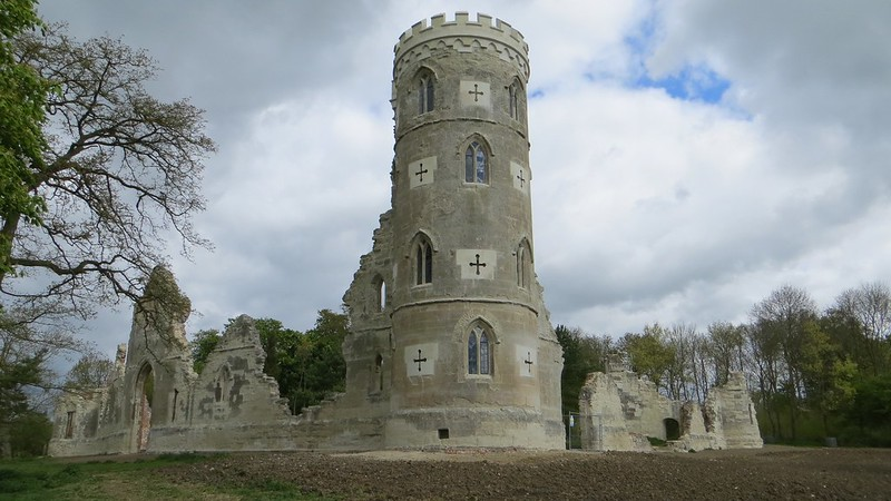 Wimpole Hall's Gothic Tower in Wimpole, Cambridgeshire, UNITED KINGDOM