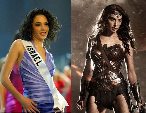 ¡Un cambio de otro planeta! La guapísima @Gal_Gadot, antes de convertirse en la nueva y flamante Mujer Maravilla representó a Israel en el Miss Universo 2004. ¿Nos podremos imaginar a alguna soberana venezolana luchando contra los malos en el futuro? #Gal