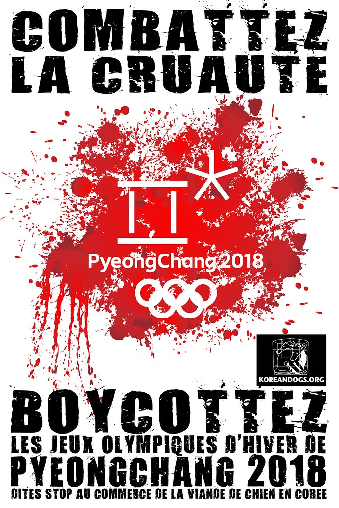 BOYCOTTEZ LES JEUX OLYMPIQUES D'HIVER DE PYEONGCHANG 2018