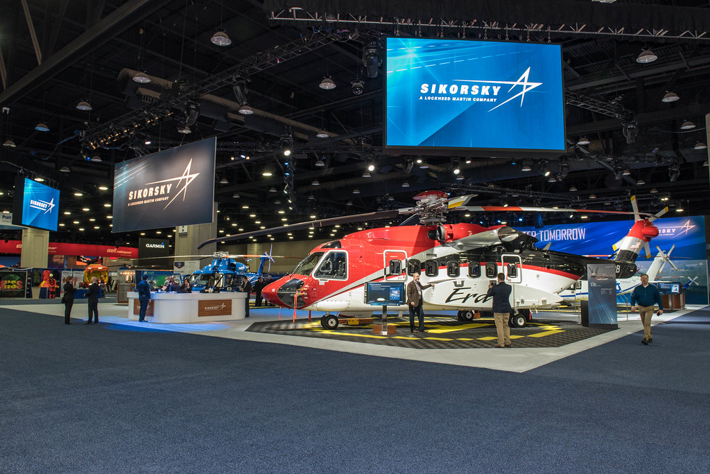 Full booth view from HAI Heli-Expo 2016 | Lockheed Martin | Flickr on