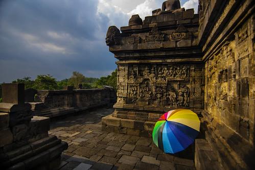 colourful view on Borobudur