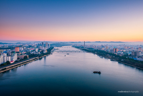 Sunrise in the Capital of Pyongyang City | by reubenteo