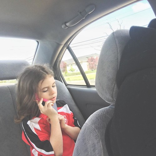 On the way to the game, she was pretending to be the manager for the soccer team and fielding all sorts of very important calls. She's decided managing things is difficult but worth it. #aviendhajane #aviventures | by Mrs Soup