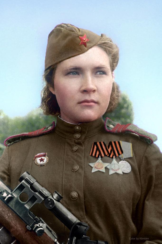 Soviet sniper Lyubov Makarova