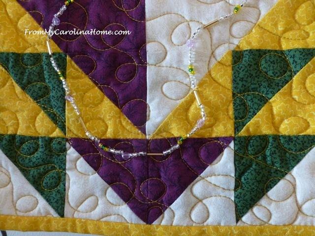 Mardi Gras Mini Quilt | From My Carolina Home