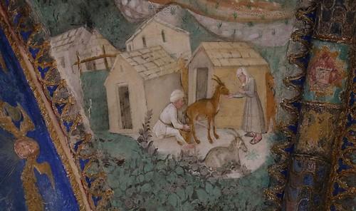 Dettaglio affreschi della camera d 39 oro 1452 benedetto for Planimetrie della camera a castello