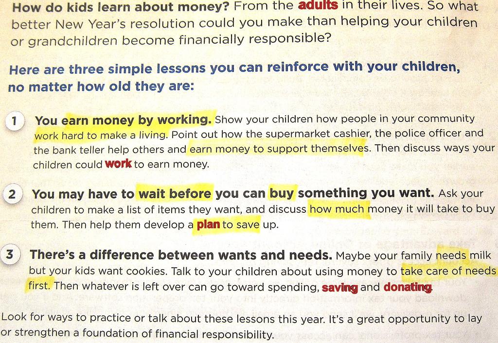 Children Learn Financial Literacy Left Brain Logic Observing Adults In Their Lives DA Debtors
