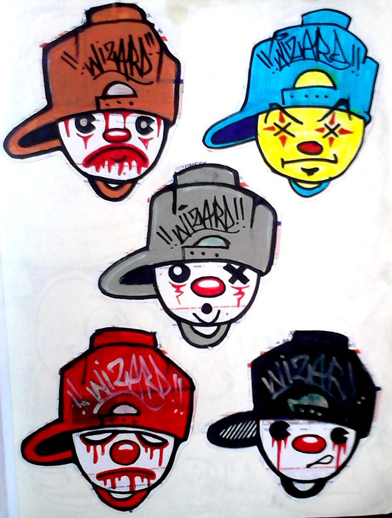Cholowiz13 Graffiti Stickers Clowns By Wizards Stickers Cholowiz13 Graffiti Stickers Clowns By Wizards Stickers