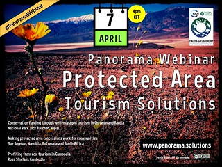 April 7 Panorama Webinar: Protected Area Tourism Solutions #PanoramaWebinar @IUCN @IUCNTourism @IUCN_CEC @IUCN_PA @SueSnyman
