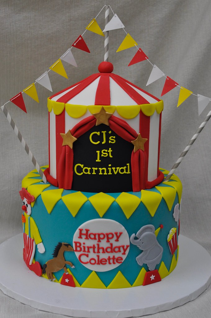 Carnival First Birthday Cake Jenny Wenny Flickr