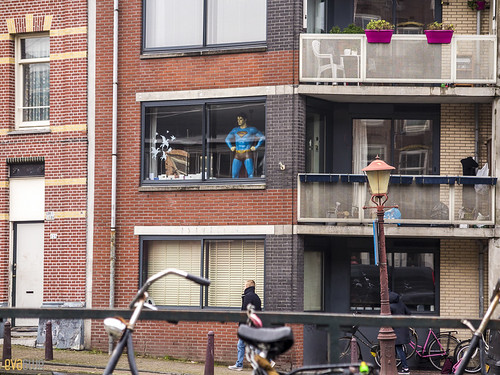 033 superman window amsterdam | by Eva Blue